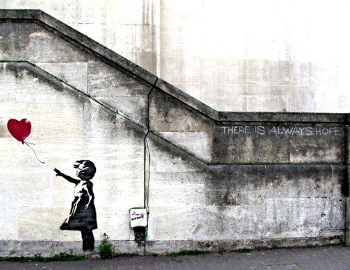 """There is Always Hope"" by Bansky"